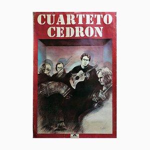 Cuarteto Cedron, 1977, Chances Poster Polydor, Argentina