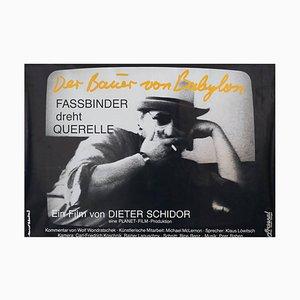 Poster der Zauberer von Babylon, RW Fassbinder Shoots Querelle, 1982