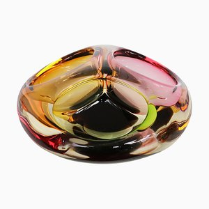 Murano Glass Three-Section Bowl, 1960s