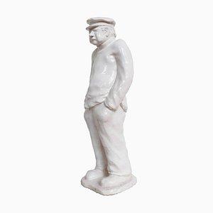 Art Deco White Craquelé Sculpture