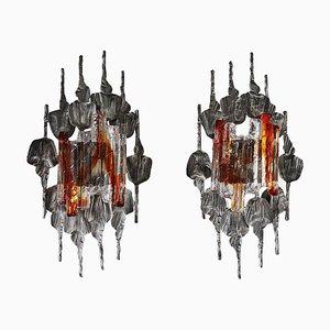 Große Brutalistische Wandlampen von Tom Ahlström & Hans Ehrlich, Schweden, 2er Set