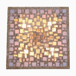 Brutalistische Skulpturale Mosaik Wandlampe, 1960er