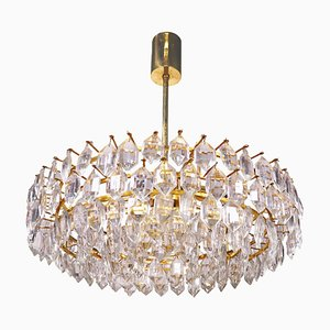 Large Chandelier in Crystal & Brass from Lobmeyr / Bakalowits & Sons