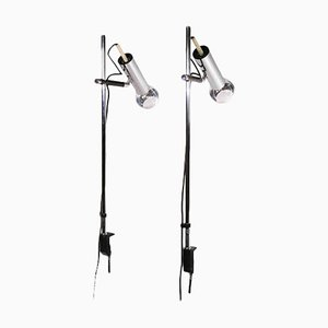 Articulated Desk Clamp Lamps from Staff, Germany 1960, Set of 2