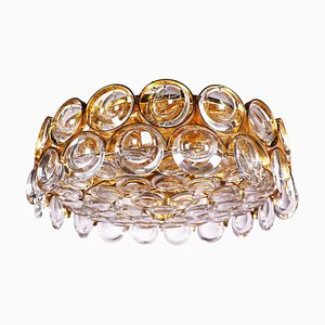 Bubble Ceiling Light in Crystal & Gilt Brass from Palwa, 1960s, Germany