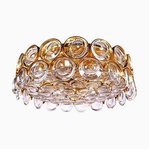 Palwa Sideglas aus Kristallglas & vergoldetem Messing, Deutschland, 1960er