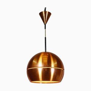 Mid-Century Modern Copper Pendant Lamp, 1960s, Denmark