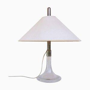 Tischlampe aus Glas & Chrom von Ingo Maurer, 1960er