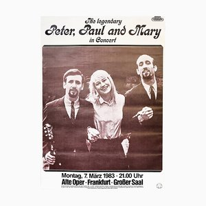 Peter, Paul and Mary Such Is Love, 1983, Concert Music Poster