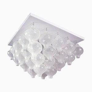 Pyramiden Einbaulampe aus Tulipan Murano Glas & Nickel, 1960er, Österreich
