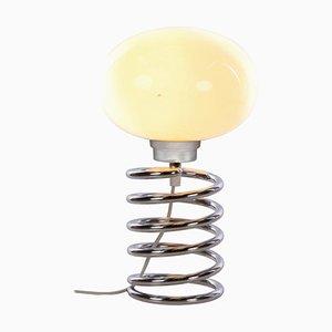Kleine Spirale Tischlampe aus Glas & Chrom von Ingo Maurer Design M, 1965
