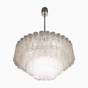 Large Chandelier with Murano Glass Tubes, 1960s, Germany