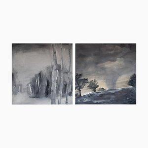 Paintings, Ingrid Stolzenberg, Landscape, Set of 2