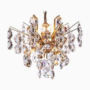 Sputnik Chandelier in Crystal & Gilt Brass from Palwa, 1960s, Germany