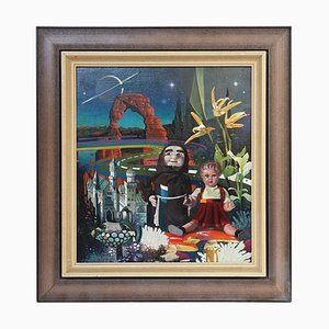 The Dolls, Post-Surrealism Oil Painting by Asher Ein Dor, Israel, 1980
