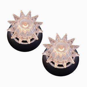 Italienische Wandlampen in Form eines Sterns, 1960er, 2er Set