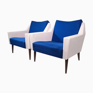 Cubist Lounge Chairs, Italy, 1962, Set of 2