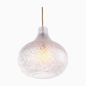 German Patmos Tulip Pendant Lamp in Crystal Glass from Peill & Putzler, 1960s