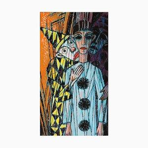 Emil Betzler, Harlequins 2, German Expressionist Work on Paper