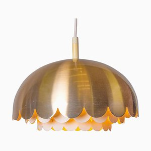 Vintage Copper Pendant Light from Doria, Germany, 1960s