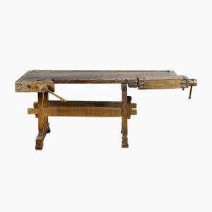 Antique Oak Carpenter's Workbench, 1910s