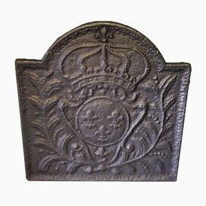 Antike Französische Bourbon Kaminplatte