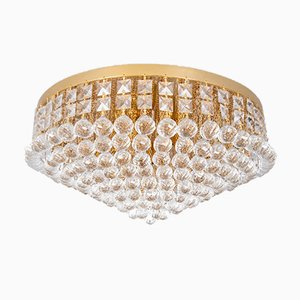 Large Swarovski Crystal Ball Ceiling Lamp, 1970s