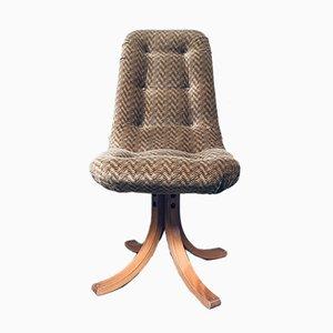 Mid-Century Scandinavian Swivel Dining Chair Set, Denmark, 1970s, Set of 6