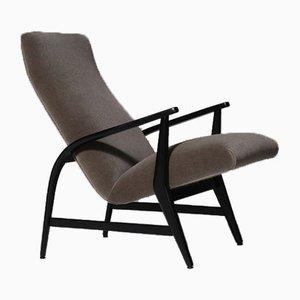 Mid-Century Modern Italian Lounge Chair in Mohair
