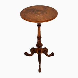 Antique Victorian Inlaid Walnut Occasional Table