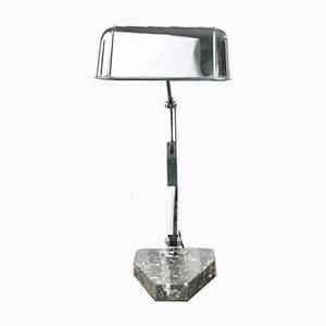 Lampe de Banquier Moderniste avec Socle en Marbre