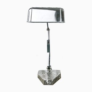 Modernist Banker's Lamp with Marble Base