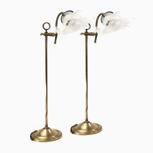 Art Deco Tischlampen, 2er Set