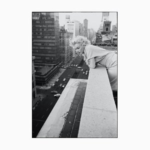Marilyn on the Roof Silver Gelatin Resin Print, Framed in White by Ed Feingersh for Galerie Prints