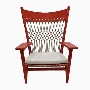 JH 719 Web Lounge Chairs from Hans Wegner, Set of 2