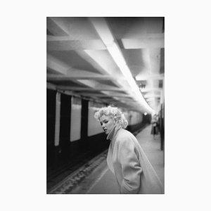 Marilyn in Grand Central Station Silver Gelatin Resin Print, Framed in White by Ed Feingersh for Galerie Prints