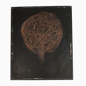 Placenta Wandkunst von John Olsen, Denmark, Juli 1991