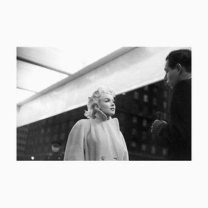 Marilyn in Grand Central Station Gelatin Resin Print, Framed in White by Ed Feingersh for Galerie Prints