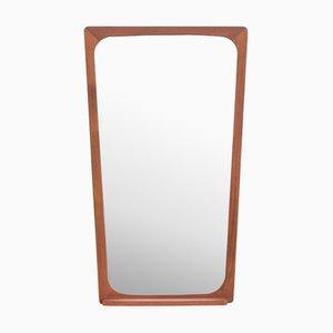 Danish Teak Mirror with Small Shelf