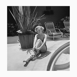 Marilyn Monroe Silver Gelatin Resin Print Framed in White by Archive Photos