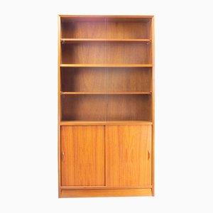 Teak Model 917 Bookcase with Sliding Glass Doors from Herbert Gibbs, 1970s