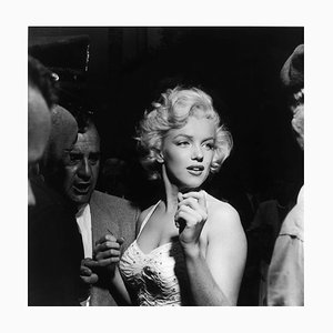 Marilyn Monroe Silver Gelatin Resin Print Framed in Black by Murray Garrett
