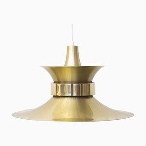 Gold Aluminum Pendant Lamp by Bent Nordsted for Lyskær Belysning