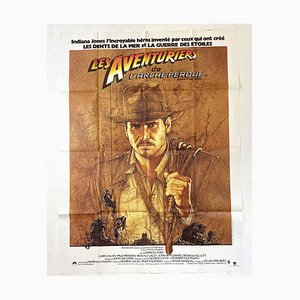 French Indiana Jones Film Poster by Richard Amsel, 1981