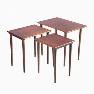 Vintage Danish Teak Nesting Tables, Set of 3
