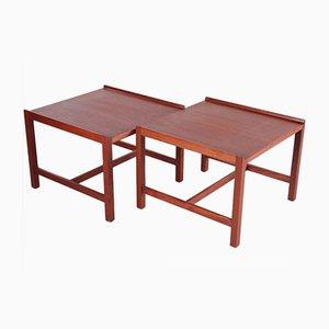 Mid-Century Danish Teak Side Tables, Set of 2