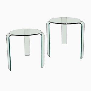 Italian Nightstands by Alvar Aalto for Fiam, Set of 2
