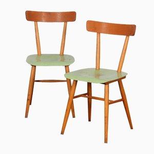 Grüne Stühle von TON, 1960er, 2er Set