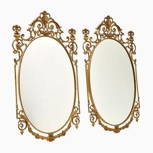 Antike Messing Spiegel, 2er Set