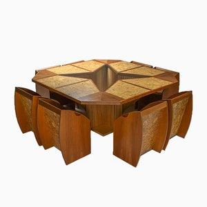 Italian Minimalist Dining Set, Set of 9